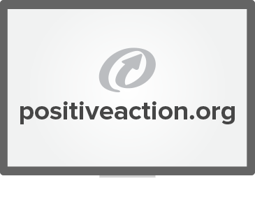 A computer screen showing positiveaction.org