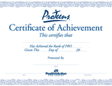 ProTeens Certificate of Achievement
